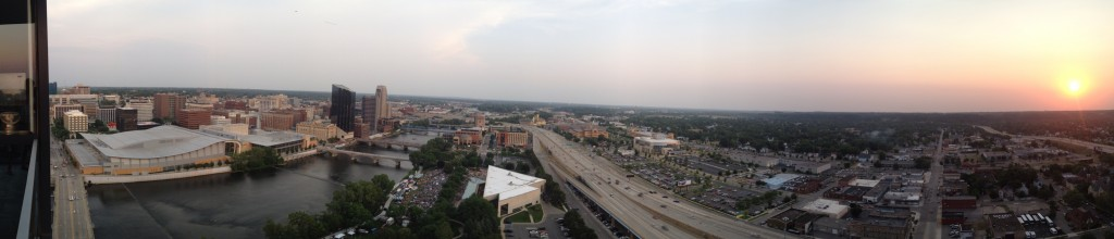 Grand Rapids South-West Skyline, 24 stories up